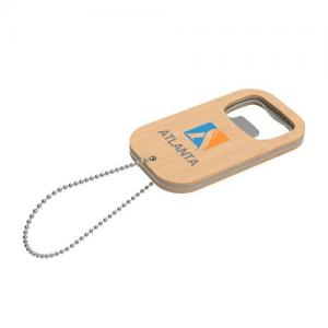 Key Ring Atlanta Marron avec impression quadri